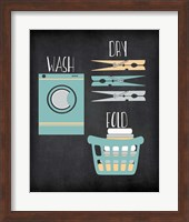 Framed Wash, Dry, Fold