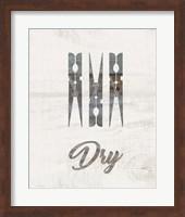 Framed Barnwood Dry