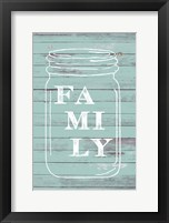 Framed Family Mason Jar