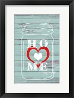 Framed Home Mason Jar
