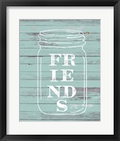 Framed Friends Mason Jar
