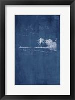 Framed Navy Beach Palm II