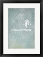 Framed Beach Palm I