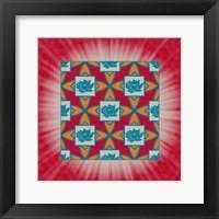 Framed Lotus Tile Colored