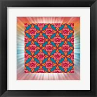 Framed Lotus Tile Color I