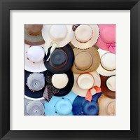 Framed Hats on a Rack