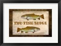 Framed Tow Fish Lodge II