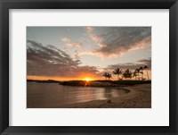 Framed Sunset Cove