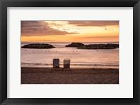 Framed Sunset on The Beach II