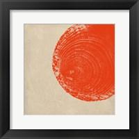 Framed Tree Stump Tangerine