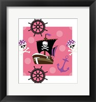 Framed Ahoy Pirate Girl I
