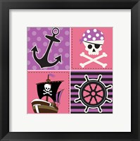 Ahoy Pirate Girl II Framed Print