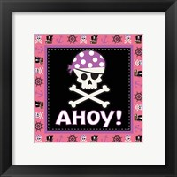 Ahoy Pirate Girl III Framed Print