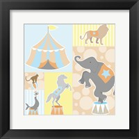 Framed Baby Big Top III Blue