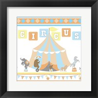 Framed Baby Big Top VII Blue