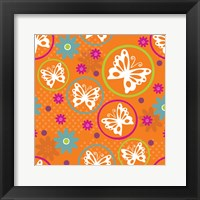 Framed Butterflies and Blooms Lively V
