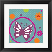 Framed Butterflies and Blooms Lively VII