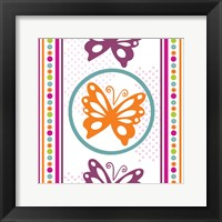 Framed Butterflies and Blooms Lively IX