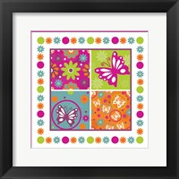 Framed Butterflies and Blooms Lively X