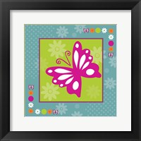 Framed Butterflies and Blooms Lively XII