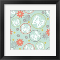 Butterflies and Blooms Tranquil V Framed Print