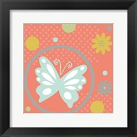 Framed Butterflies and Blooms Tranquil VII