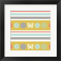 Butterflies and Blooms Tranquil VIII Framed Print
