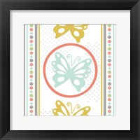 Butterflies and Blooms Tranquil IX Framed Print