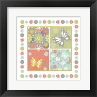 Butterflies and Blooms Tranquil X Framed Print
