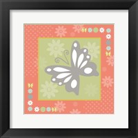 Framed Butterflies and Blooms Tranquil XII