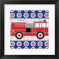 Framed Fire Emergency X