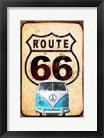 Framed Route 66 Van