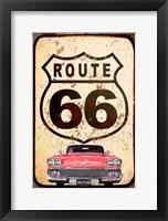 Framed Route 66 Car