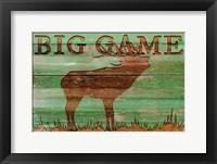 Framed Big Game Elk