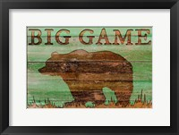 Framed Big Game Bear
