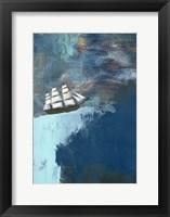 Framed Dark Blue Ocean