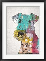Framed Abstract Dog