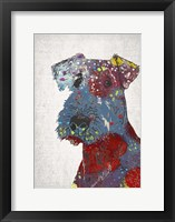Framed Abstract Dog II