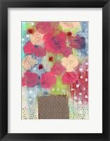Framed Bright Floral in Vase