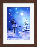 Framed Star Bright Snowman