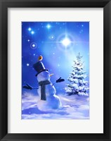 Framed Star Bright Snowman