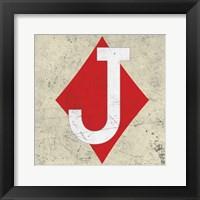 Framed Jack of Diamond Antique