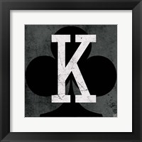 Framed King of Clubs Gray