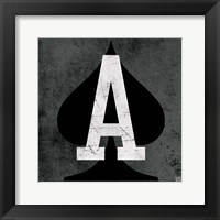 Framed Ace of Spades Gray