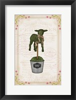 Framed Topiary Lamb