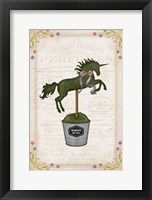 Framed Topiary Unicorn II