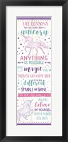 Framed Life Lessons from a Unicorn