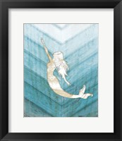 Framed Coastal Mermaid I