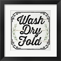 Framed Wash, Dry, Fold, II