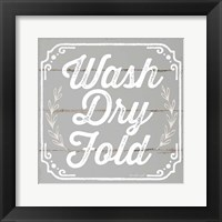 Framed Wash, Dry, Fold III